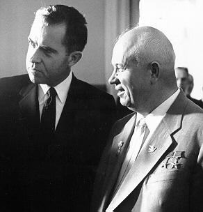 Nixon and Khrushchev